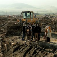 Environmental students visited open dumping area in Tanjaro