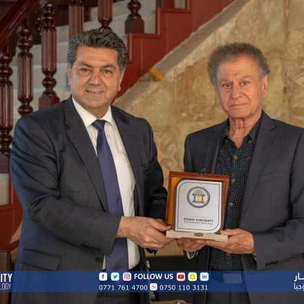 KUST President and his accompanying delegation visited the renowned Kurdish artist, Mazhar Khaleghi