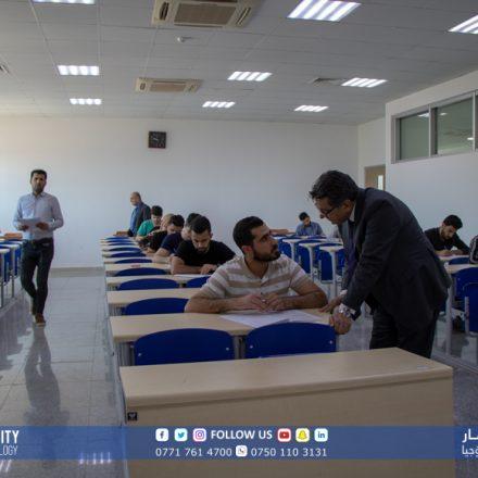 KUST President Prof Dr. Salahadin Saeed visited exam halls