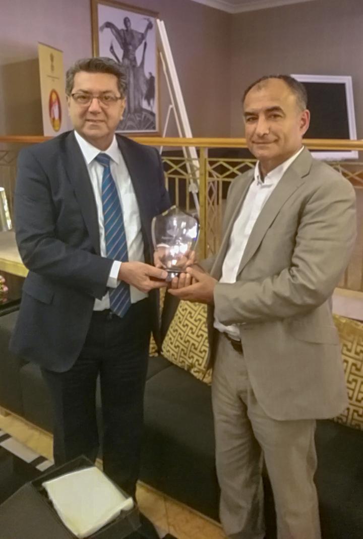 Certificates of Appreciation Awarded to Professor Rebwar Amin